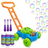 Lydaz Bubble Mower for Toddlers, Kids Bubble Blower Machine Lawn Games, Outdoor Push Toys, Halloween Christmas Birthday Toys Gifts for Preschool Baby Boys Girls