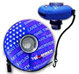 BLUE LARGE - Human Bobber Inflatable Floating Drink Holder – Beverage Bobber Drink Float for Tumblers, Yeti, Tervis, or Wine Bottle in The Hot Tub, Pool or Boat (Large Size for 16oz to 30oz Tumblers)