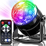 Disco Ball Disco Lights, Party Lights 7 Colors Dj Lights Strobe Light Sound Activated Stage Lights Dj Equipment with Remote Control Disco Ball Lamps for Home Room Parties Kids Birthday Wedding Pub
