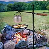 Campfire Swivel Grill,360°Adjustable Camp Grill Over Fire Pit Grill,Multipurpose Cooking Equipment for Camping Fire Outdoor BBQ