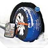 atliprime 2pcs Anti-Skid Safety Ice Mud Tires Snow Chains Auto Snow Chains Fabric Tire Chains car Snow Sock on Ice and Snowy Road (SB77)