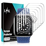 6 Pack LϟK Compatible for Apple Watch Screen Protector 40mm SE Series 6 5 / Series 7 41mm, Max Coverage, Bubble-Free, Flexible TPU Film HD Clear Screen Protector for iWatch 40mm 41mm