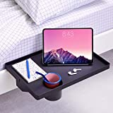 BedShelfie Essential Bedside Shelf with Cupholder and Bunk Bed Shelf 4 Colors / 7 Styles As Seen On Business Insider for College Dorm Room Essentials (Cupholder in Large 17 x 11.6, Black in Plastic)