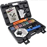 iGeelee Hydraulic A/C Hose Crimper Hydraulic A/C Crimping Tool Hydra-crimp for Barbed and Beaded Hose Fittings IG-71500