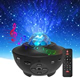 Star Projector & Night Light, Torjim 2 in 1 Ocean Wave Night Light Projector with Remote Control & Auto-Off Timer, Galaxy Projector with LED Nebula Cloud with Wireless Remote Speaker for Kids Bedroom