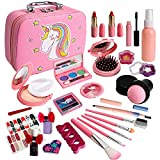Kids Makeup Kit for Girl, Real Washable Makeup Set for Kids, Toddler Makeup Kit , Princess Dress Up Pretend Play Birthday Girls Gift Toys for Girl Aged 4 5 6 7 8 Year Old