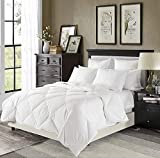 Downluxe Lightweight White Down Comforter King Size - Down Duvet Inserts,230 Thread Count 550+ Fill Power,100% Cotton Shell Down Proof with Tabs