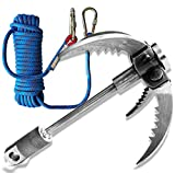 Grappling Hook Stainless Steel Survival Folding Claw with Rope. Multifunctional Claw and Rope for The Outdoors Hiking, Camping, and Mountain Climbing