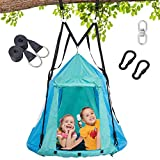 Trekassy 700lbs 2 in 1 Detachable Hanging Tree Swing Tent for Kids Adults with Swivel and Tree Straps