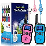 Wishouse 2 Walkie Talkies for Kids, Family Walky Talky Radio for Adults Cruise Ship Long Range, Outdoor Camping Hiking Fun Toys Birthday Gift for 3 4 5 6 7 8 9 10 11 12 Year Old Girls Boys