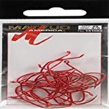 Matzuo Sickle Octopus Hook (Pack of 25), Red Chrome, 4/0, Pink