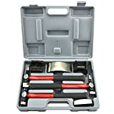 NEIKO 20709A Auto Body Fender Repair Hammer and Dolly Set   7 Piece   Car Body Repair Tool Kit for Dents
