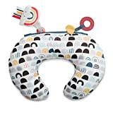 Boppy Tummy Time Prop Pillow   Black and White Modern Rainbows with Teething Toys   A Smaller Size for Comfortable Tummy Time   Attached Toys to Encourage Pediatrician Recommended Tummy Time
