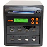 Systor 1 to 7 USB 2.0 Duplicator - 2GB/Min - Standalone Multiple Flash Drive Copier/Eraser, Speeds Up to 33MB/Sec (SYS-USBD-7)