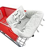 Baby Children Covers Shopping cart Cushion for Infant Supermarket Cart Cover Protector… (Grey Stripe)