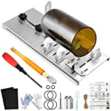 YLYL 19 Pcs Glass Bottle Cutter & Glass Cutter Kit DIY Tools, Glass Cutter for Bottles, Upgraded Wine Bottle Cutters for Cutting Round Bottles, with Glass Cutter, Gloves, Sanding Paper, Hemp Rope etc