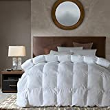 Goose Down Alternative Comforter King Size All Season Duvet Insert, Ultra Soft Double Brushed Microfiber Quilt Cover, Baffled Box Stitched with Corner Tabs, White Color