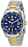 Invicta Women's Pro Diver Quartz Watch with Stainless Steel Strap, Two Tone, 20 (Model: 30481)