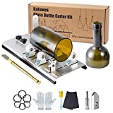 Glass Bottle Cutter, Upgrade Glass Cutter for Bottles, DIY Bottle Cutter & Glass Cutter Kit for Cutting Wine, Beer, Liquor, Whiskey, Alcohol, Champagne,Alcohol Round Bottles