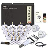 Cupping Therapy Sets, 24 Cups Professional Chinese Acupoint Cupping Therapy Set with Vacuum Pump for Body Massage, Pain Relief, Physical Therapy–Improve Your Health & Wellness