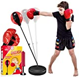 EMAAS Punching Bag Set for Kids with Boxing Gloves & Hand Pump - 3-8 Years Old Adjustable Kids Punching Bag with Stand - Top Gifting Idea for for Girls & Boys- Portable & Long-Lasting