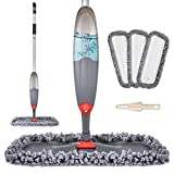 Spray Mop for Floor Cleaning, Domi-patrol Microfiber Floor Mop Dry Wet Mop Spray with 3 Washable Mop Pads & 635ML Refillable Bottle, Dust Cleaning Mop for Hardwood Laminate Tile Floors, Gray