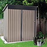 U-MAX 5' x 3' Outdoor Metal Storage Shed, Steel Garden Shed with Single Lockable Door, Tool Storage Shed for Backyard, Patio, Lawn