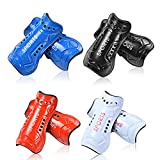 8 Pcs Youth Soccer Shin Guards, Kids Soccer Shin Guards with Adjustable Double Straps,Breathable Child Calf Protective Gear Soccer Equipment Shin Guard Straps for 4-12 Years Old Toddler Kids Teenagers