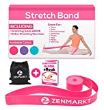 Stretch Bands for Dancers and Gymnasts - Exercise Bands for Dance, Ballet, Gymnastics, Cheerleading, Pilates Training Stretching Band Dance Stretch Bands for Flexibility Ballet Barre E-Book (Pink)