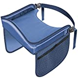 OxGord Kids Activity Tray - Learn & Play Mat for Car Seat Travel with Storage Pocket Organizer - Blue