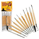 Pumpkin Carving Kit (21 Tool Set) w 11 Double Sided Pieces - Halloween Professional Sculpting, Cutting and Carving Knife Supplies for Jack-O-Lanterns, Pumpkins, Decorations for Kids and Adults