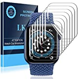 LK 8 Pack Screen Protector Compatible with Apple Watch Series 7 45MM and Apple Watch Series 6 SE Series 5 44MM, Max Coverage, Self-Healing, Bubble Free, HD Transparent Flexible TPU Film
