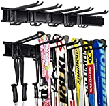 Ultrawall Ski Wall Rack, 5 Pairs of Snowboard Rack Wall Mount, Home and Garage Skiing Storage Mount Hold up to 300lbs