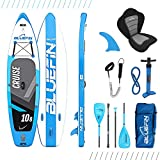 Bluefin SUP Stand Up Inflatable Paddle Board with Kayak Conversion Kit   Ultimate iSUP Kayak Bundle (Blue 10'8')