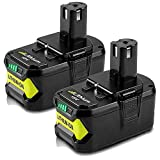 2 Pack 18V 5.0Ah Max Lithium-ion Replacement for 18 Volts Ryobi P104 P105 P100 P102 P103 P107 P109 P108 Cordless Power Tools Battery