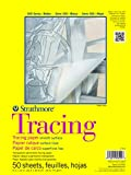 Strathmore 370-9 300 Series Tracing Pad, 9'x12' Tape Bound, 50 Sheets,White.