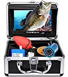 Portable Underwater Fishing Camera with Depth Temperature Display-Waterproof HD Camera and 7'' LCD Monitor-Infrared Fish Finder-Up to 8 Hours Battery Life-Ultimate Fishing Gear (30M with 8GB SD Card)