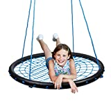 WONKAWOO 40 Inch Diameter Spider Web Swing for Trees with Adjustable Height for Kids