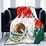 Ultra-Soft Micro Fleece Blanket Eagle of The Mexican Flag Throw Blanket Warm Blanket Soft Fleece Throw Blanket for Couch Fleece - All Season Premium Bed Blanket (60 X 50 Inches)
