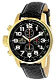 Invicta Men's Force Stainless Steel Japanese-Quartz Watch with Leather Strap, Black, 22 (Model: 3330)