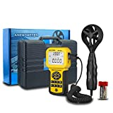 HVAC Anemometer Handheld CFM Pro HVAC Anemometer AP-846A Wind Speed Meter with Backlight Max/Min/Avg Functions for Measuring Wind Speed Air Velocity HVAC Air Flow Meter