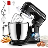 Stand Mixer, KICHOT 10+P Speed 4.8 Qt. Household Stand Mixers, Tilt-Head Dough Maker Machine with Dough Hook, Beater, Wire Whisk & Splash Guard Attachments for Baking, Cake, Cookie, Kneading, SM-1533