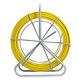 6MM 100M Fiberglass Fish Tape Puller Cable Wire Running Fiberglass Fish Tape Puller Running Cable Puller Wire Cable Pulling Electrical Duct Rodder Continuous Stand