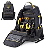 STEELHEAD 35-Pocket Solid Molded Base Heavy-Duty Tool Backpack, Waterproof Reinforced Molded Bottom, Laptop Compartment, Padded Back Support, Jobsite Ready: Electricians, Plumbers, Contractors, HVAC