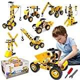 HomeTTER Educational Building Toys STEM Learning Kit, 8 in 1 Construction Blocks for Preschool Kids, 100 Pieces Engineering Toys Creative Set Gift for Boys and Girls Age 5 6 7 8 9 10+ Years Old