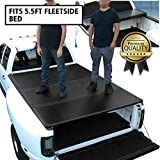 DNA MOTORING TTC-HARD-015 Truck Bed Top Hard Solid Tri-Fold Tonneau Cover Replacement For 15-18 F150 5.5Ft Fleetside Bed