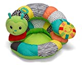 Infantino Prop-A-Pillar Tummy Time & Seated Support - Pillow Support for Newborn and Older Babies, with Detachable Support Pillow and Toys, for Development of Strong Head and Neck Muscles Green