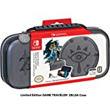 Nintendo Switch & Switch Lite Zelda Case - Adjustable Viewing Stand & Game Case Storage , Protective PU Leather Hard Shell Case with Deluxe Carry Handle