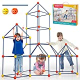 Lucky Doug 162 Pieces Kids Fort Building Kit, Ultimate Construction Fort Builder Kits for Kids 3 4 5 6 7 8 10 12 Years Old Boys Girls DIY Build A Creative Fort Indoor Outdoors