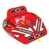 WOW World of Watersports Coupe Cockpit 1 or 2 Person Inflatable Towable Cockpit Tube for Boating, 15-1030